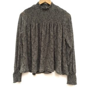 Anthropologie Deletta Sheer Floral Lace Blouse